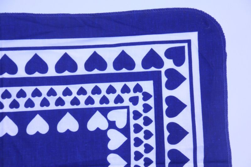 画像1: 北欧デンマークで見つけた  キッチンタオル(ティータオル)ハート ブルー (1)