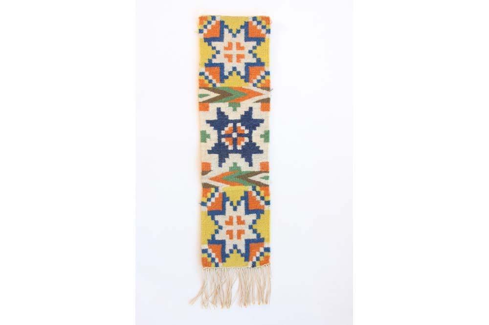 画像1: 北欧ビンテージ/スウェーデン/手織り物/雪結晶 (1)