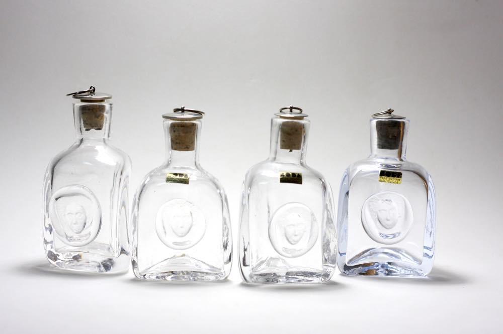 画像1: Erik Hoglundエリックホグラン  ガラス ミニボトル 顔 (1)