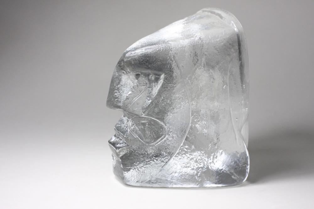 画像1: Erik Hoglund/エリックホグラン/ガラス/ブックエンド 顔 (1)