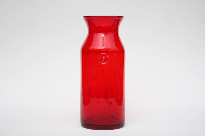 画像1: Erik Hoglund/エリックホグラン/ 気泡入り/ボトル顔付き/レッド/ボトル (1)