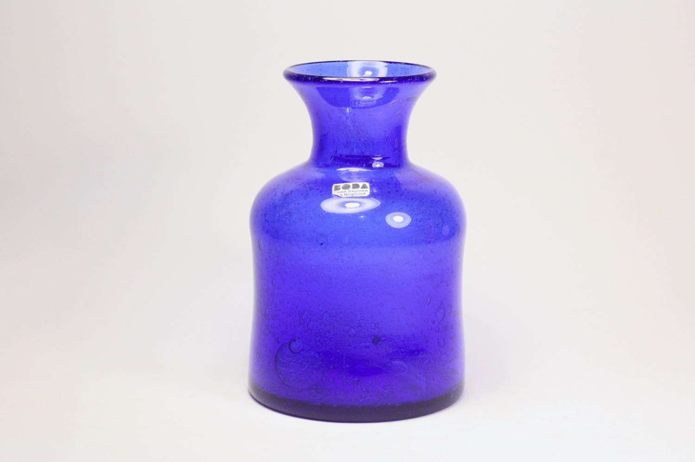 画像1: Erik Hoglund/エリックホグラン/ BODA社製/ガラス/気泡入り/ボトル/ブルー (1)