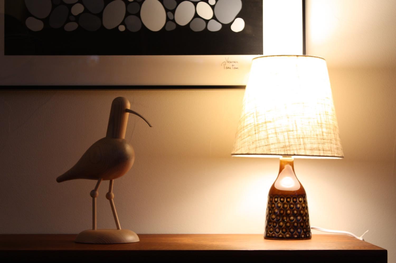 画像1: ビンテージ北欧照明/テーブルライト/Soholm/スーホルム/テーブルライト/陶製/No.3 (1)