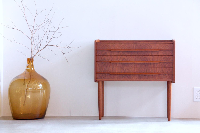 画像1: ビンテージ北欧家具/デンマーク製/3段チェスト/チーク (1)