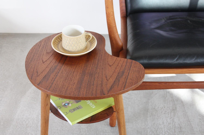 画像1: 北欧家具/ビーンズテーブル/サイドテーブル/チーク&オーク (1)