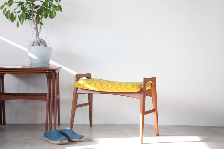画像1: 北欧ビンテージ家具/スウェーデン製/スツール✕ミナ ペルホネン/タンバリン (1)