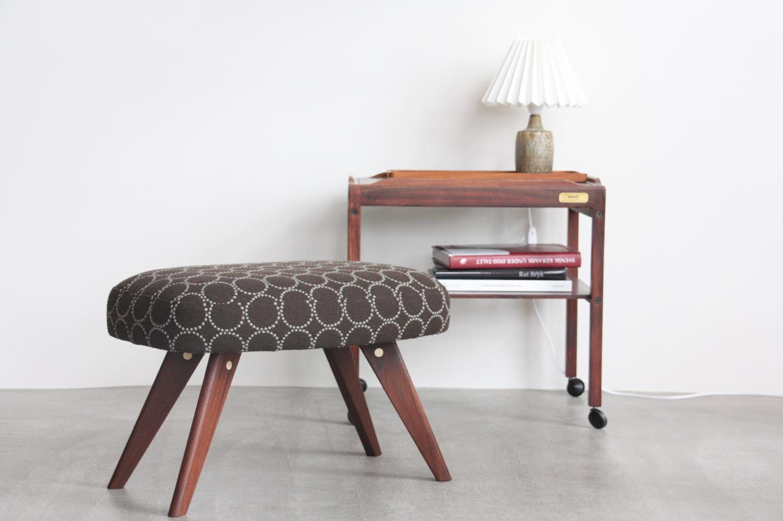 画像1: 北欧ビンテージ家具/デンマーク製/スツール✕ミナ ペルホネン/タンバリン (1)