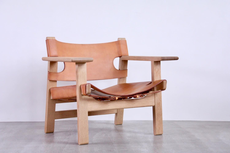 画像1: 北欧家具/ビンテージ/Borge Mogensen/ボーエ・モーエンセン/スパニッシュチェア/Fredericia/オーク&ナチュラルレザー (1)