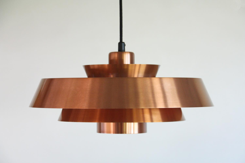 画像1: 北欧ヴィンテージ照明/デンマーク製/Fog & Morup社/Jo Hammerborg/カッパーペンダントライト (1)
