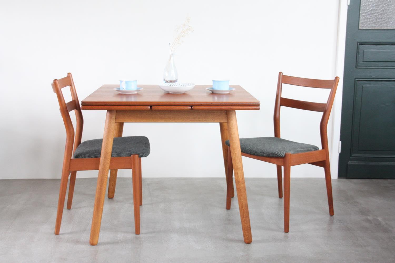 画像1: 北欧ビンテージ家具/デンマーク製 /ポール M ヴォルザー/ダイニングテーブル/チーク&オーク (1)