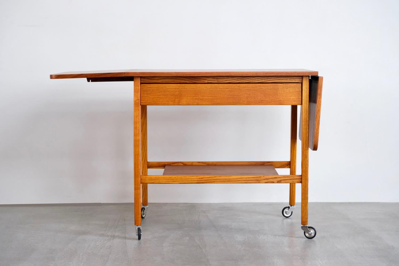 画像1: 北欧ビンテージ家具/デンマーク製/チーク/ソーイングテーブル/サイドテーブル (1)