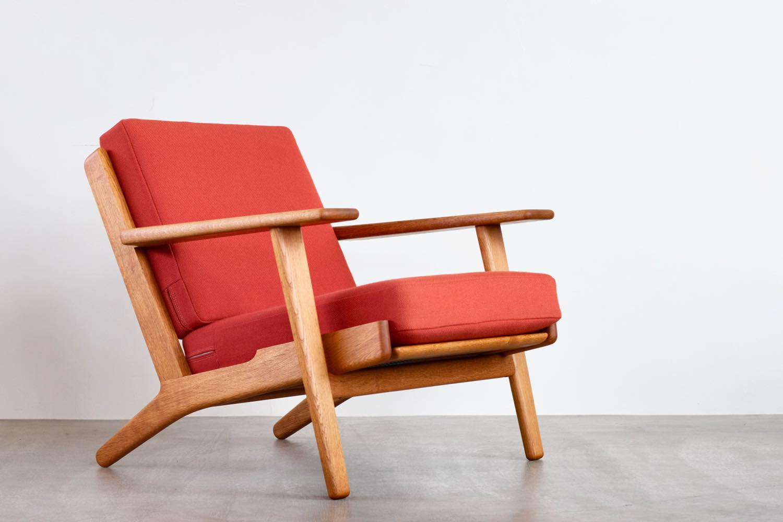 画像1: ビンテージ北欧家具/Hans j Wegner/ハンス J ウェグナー/ゲタマ/GE290/オーク/クッションはお好きなカラーで張替え代込 (1)