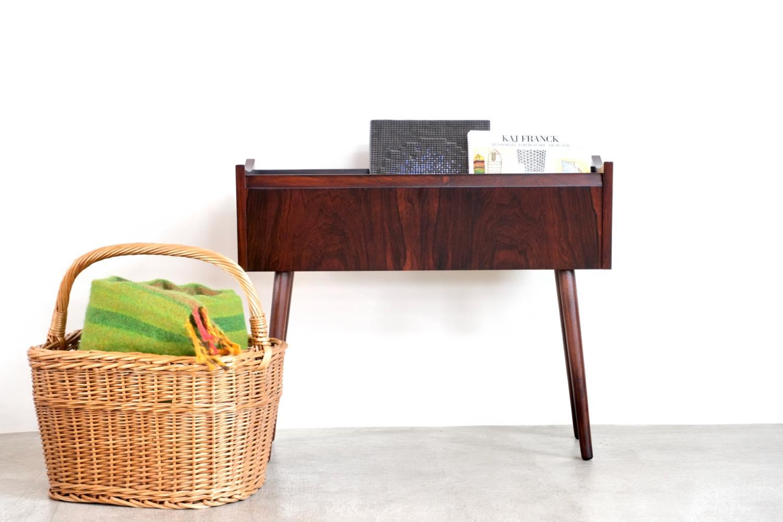 画像1: ビンテージ北欧家具/デンマーク製/ローズウッド/フラワープランター/フラワースタンド (1)