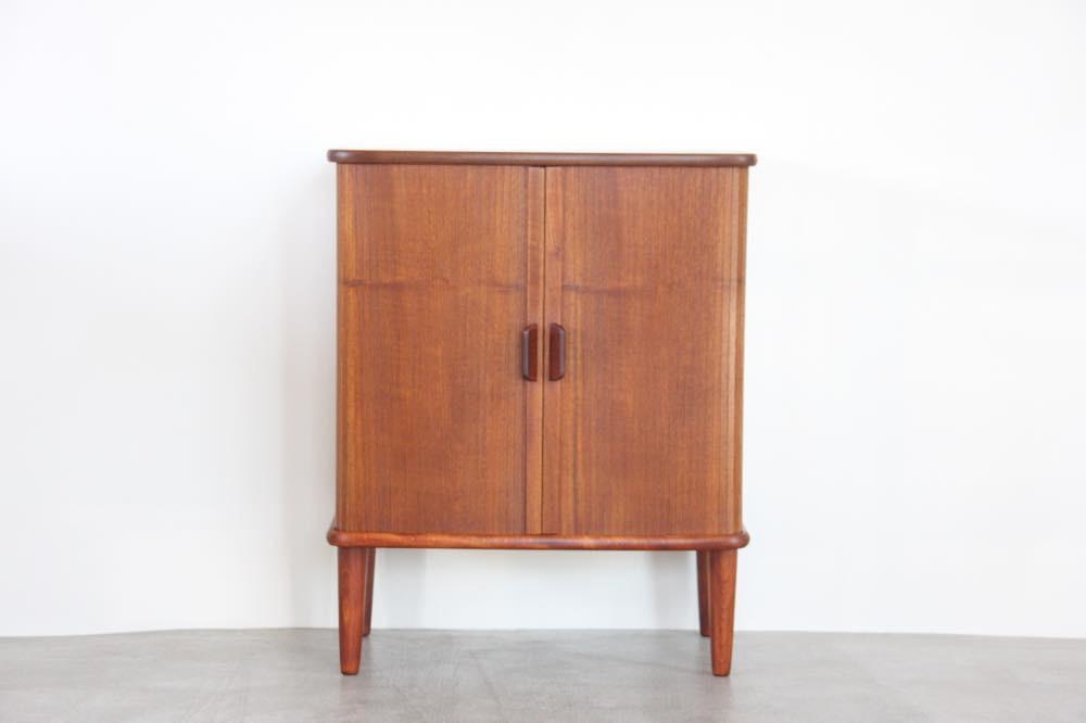 画像1: ビンテージ北欧家具/デンマーク製/ジャバラキャビネット/チーク (1)