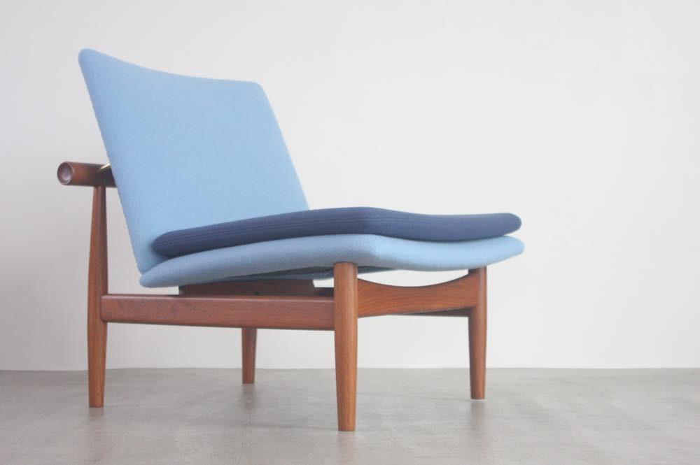 画像1: ビンテージ北欧家具/Finn Juhl/フィン・ユール/FD137/オットマンセット (1)