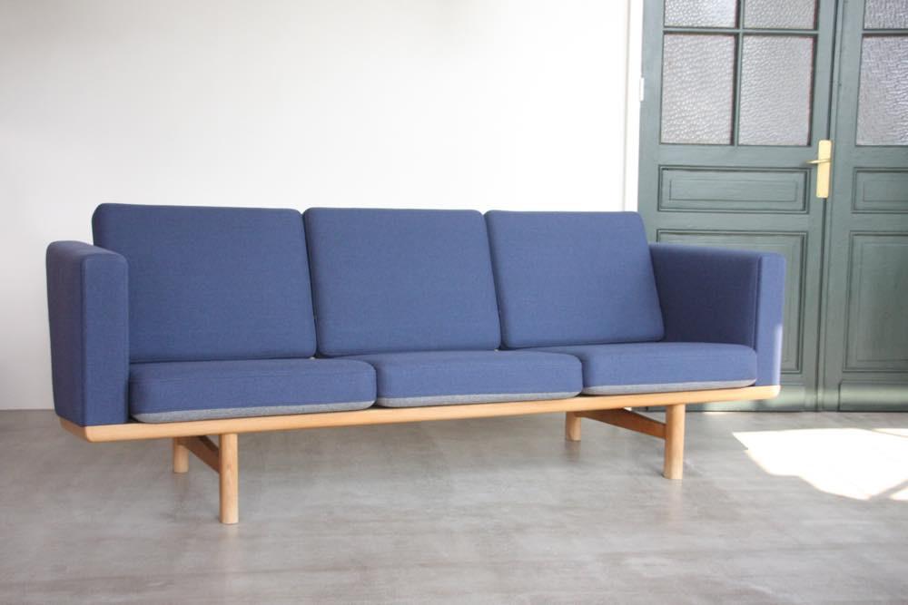 画像1: 北欧家具ビンンテージ/Hans j Wegner/ハンス J ウェグナー ソファー/GE236オーク/ハイアーム (1)