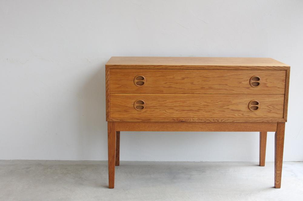 画像1: 北欧ビンテージ家具/デンマーク/チェスト/オーク2段 (1)