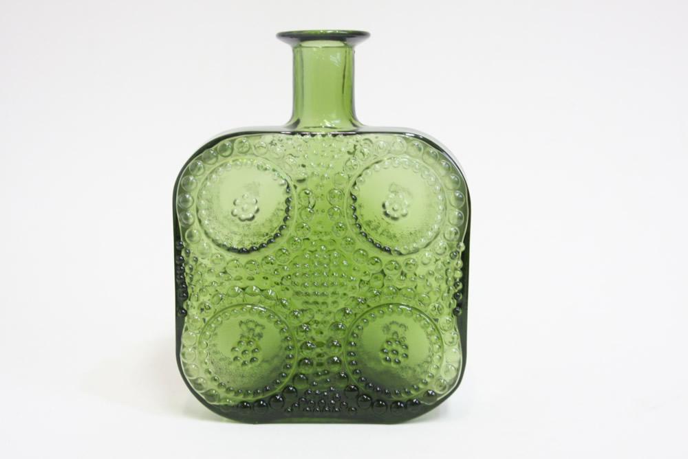 画像1: Riihimaen Lasi/Grapponia/ナニー・スティル グラッポニアボトル グリーン (1)