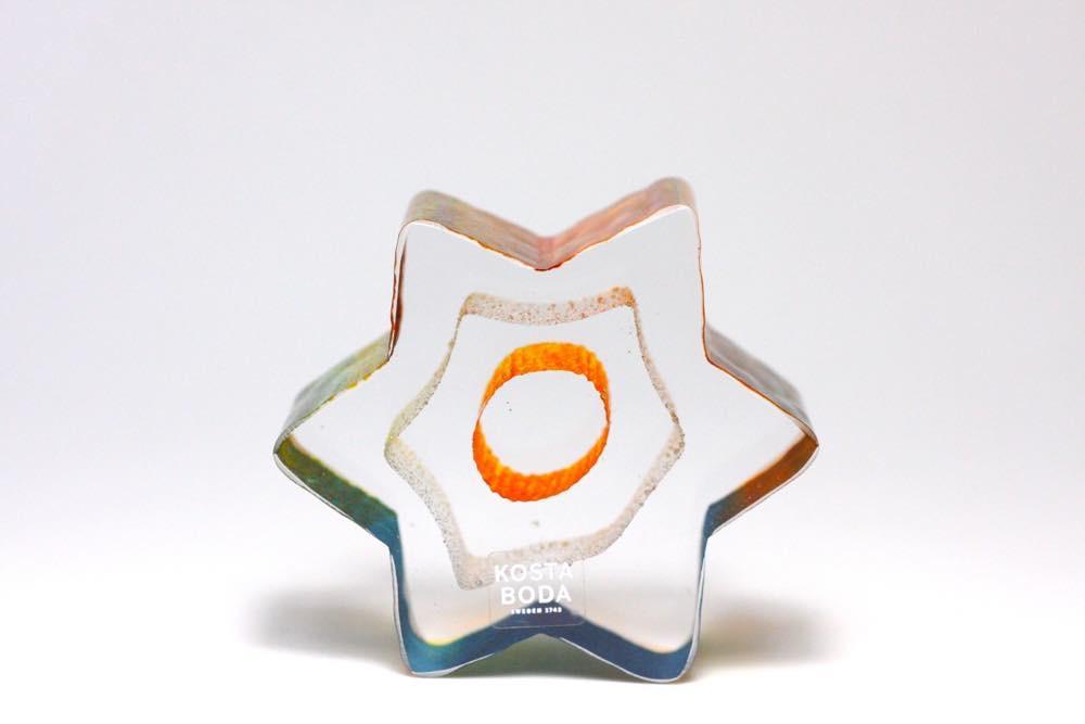 画像1: 北欧ガラス /KOSTA BODA /Bertil Vallien/星/クリスタル (1)