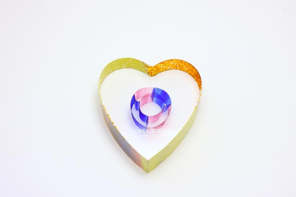 画像1: 北欧ガラス /KOSTA BODA /Bertil Vallien/ハート/クリスタル (1)