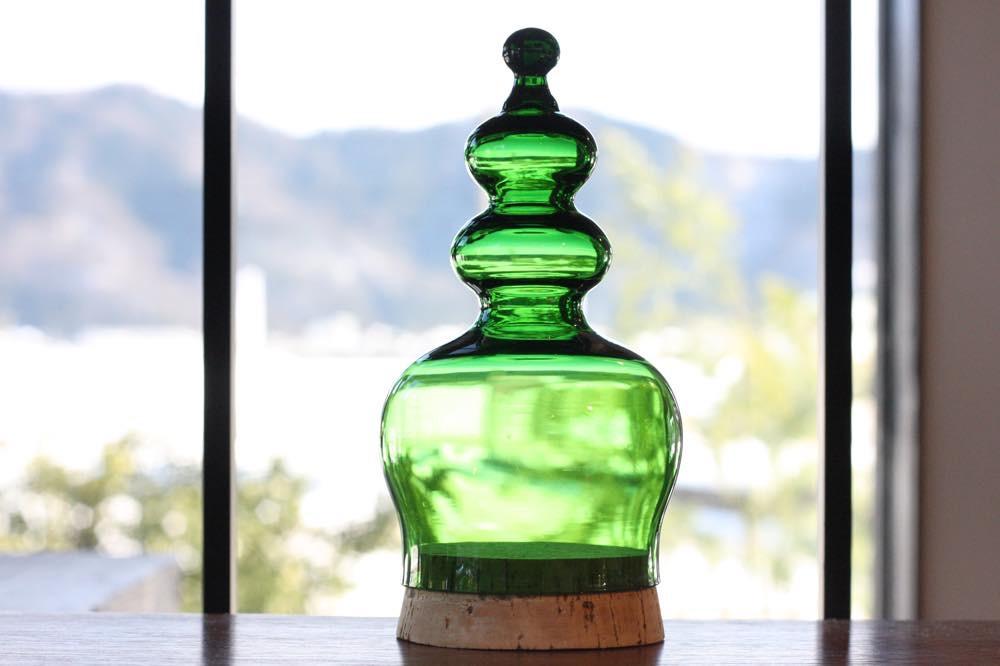 画像1: 北欧ガラス/ BODA/ボッダ/Bertil Vallien/バーティル・ヴァリーン/キャンディポット/グリーン (1)