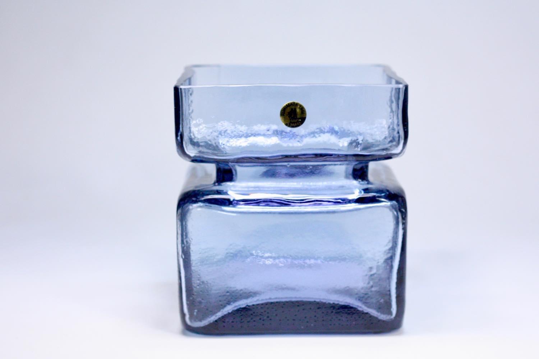 画像1: ビンテージ北欧雑貨/Riihimaen Lasi /リーヒマエン・ラシ/Pala/花瓶/ラベンダー/Lサイズ/No.1 (1)