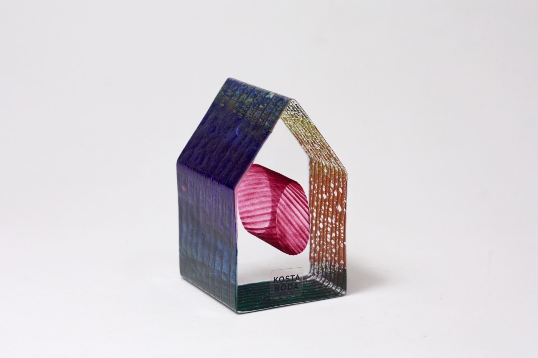 画像1: 北欧ガラス /KOSTA BODA /Bertil Vallien/Mini Sculptures/Country Living/ハウス (1)