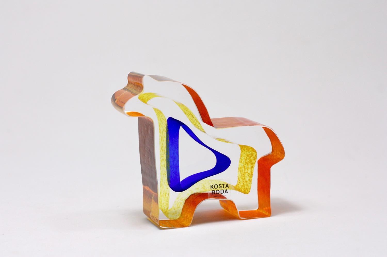 画像1: 北欧ガラス /KOSTA BODA /Bertil Vallien/Mini Sculptures/Dobbin/ポニー (1)