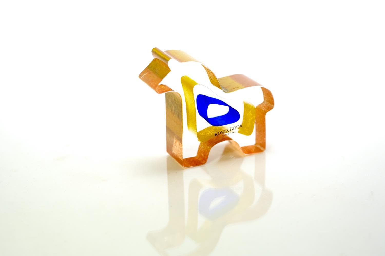 画像1: 北欧ビンテージガラス /KOSTA BODA /Bertil Vallien/Mini Sculptures/Dobbin/ポニー (1)