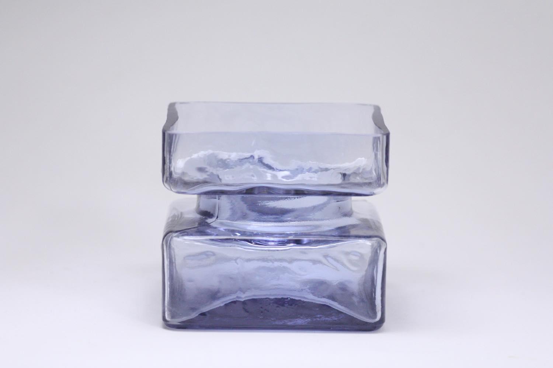 画像1: ビンテージ北欧雑貨/Riihimaen Lasi /リーヒマエン・ラシ/Pala/パラ/花瓶/ラベンダー/Mサイズ (1)