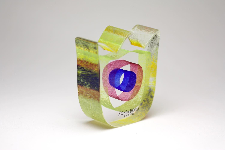 画像1: 北欧ビンテージガラス /KOSTA BODA /Bertil Vallien/Mini Sculptures//Spring Again/チューリップ (1)