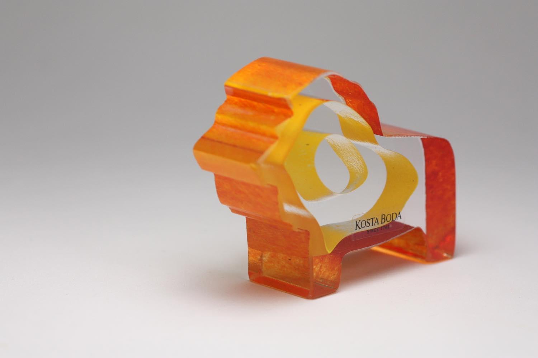 画像1: 北欧ビンテージガラス /KOSTA BODA /Bertil Vallien/Mini Sculptures/Roi Du Soleil/ライオン (1)