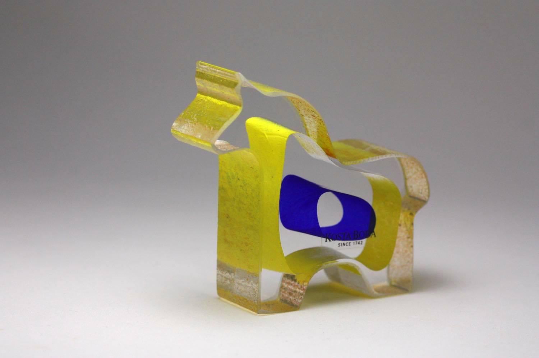 画像1: 北欧ビンテージガラス /KOSTA BODA /Bertil Vallien/Mini Sculptures/Dobbin/ダーナラホース (1)