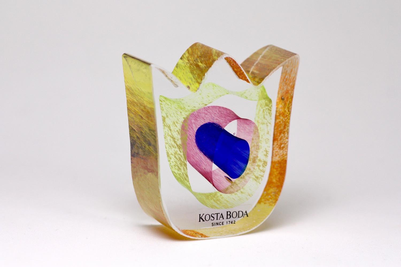 画像1: 北欧ビンテージガラス /KOSTA BODA /Bertil Vallien/Mini Sculptures//Spring Again/チューリップ/No.2 (1)