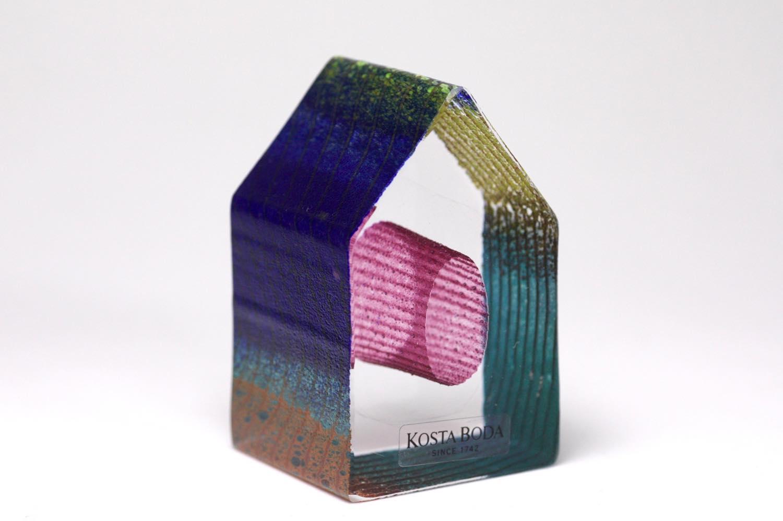 画像1: 北欧ガラス /KOSTA BODA /Bertil Vallien/Mini Sculptures/Country Living/ハウス/No.1 (1)