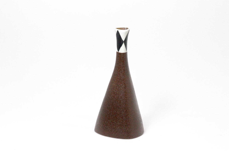 画像1: Gustavsberg/グスタフスベリ/Karin Bjorquist/Diamond pattern/一輪挿し (1)