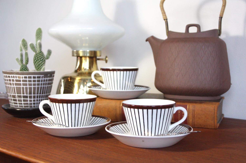 画像1: Gustavsberg/グスタフスベリ/Spisa Ribb/ スピサリブ/コーヒーカップ&ソーサー/ No.2 (1)