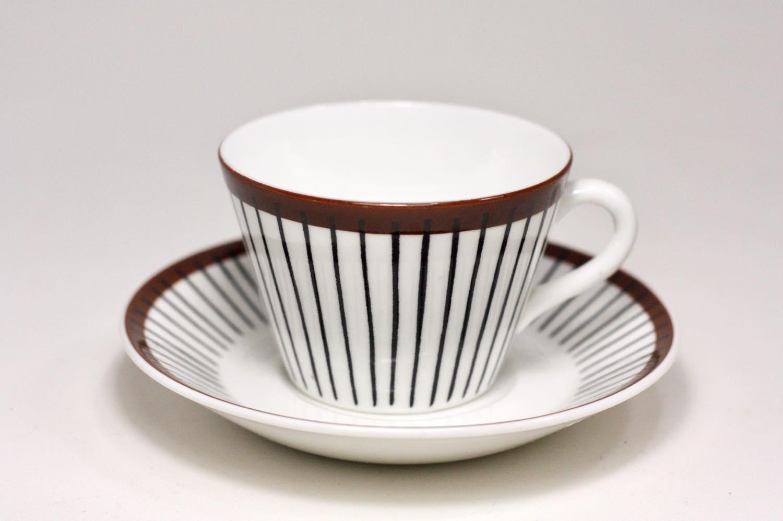 画像1: Gustavsberg/グスタフスベリ/Spisa Ribb/ スピサリブ/コーヒーカップ&ソーサー/ No.3 (1)