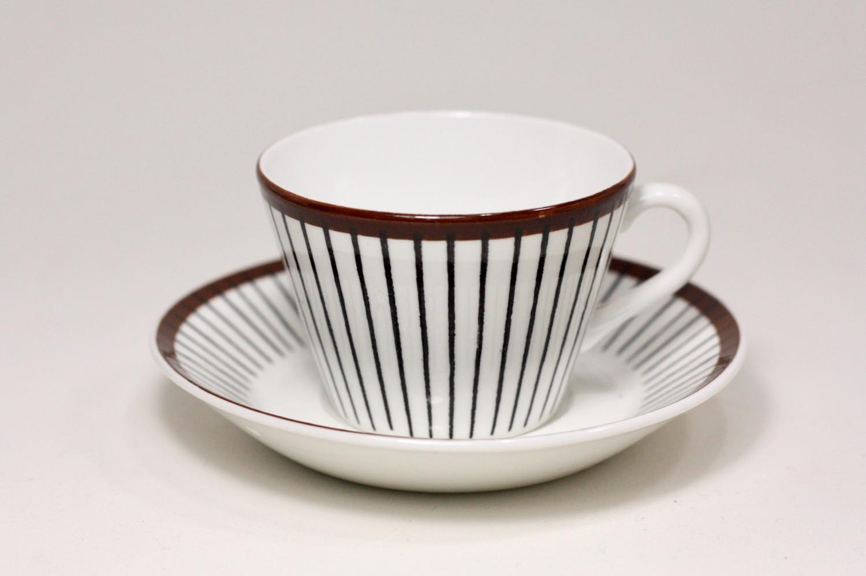 画像1: Gustavsberg/グスタフスベリ/Spisa Ribb/ スピサリブ/コーヒーカップ&ソーサー/ No.4 (1)
