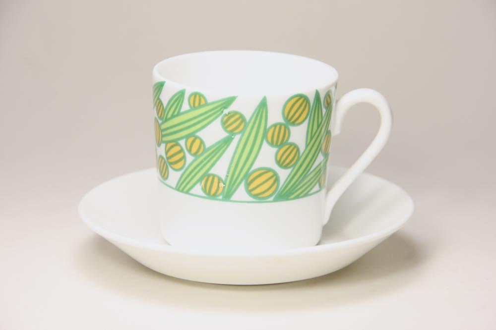 画像1: Gustavsberg/グスタフスベリ/イエロー実/コーヒーカップ&ソーサー (1)