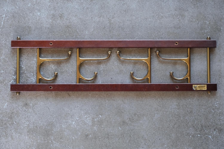 画像1: Skogslunds Metallgjuteri社製/ビンテージ真ちゅうウォールハンガー/フック/ 57cm (1)