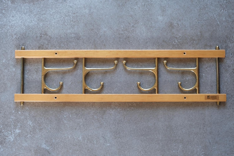 画像1: Skogslunds Metallgjuteri社製/ビンテージ真ちゅうウォールハンガー/フック/パイン/ 57cm (1)