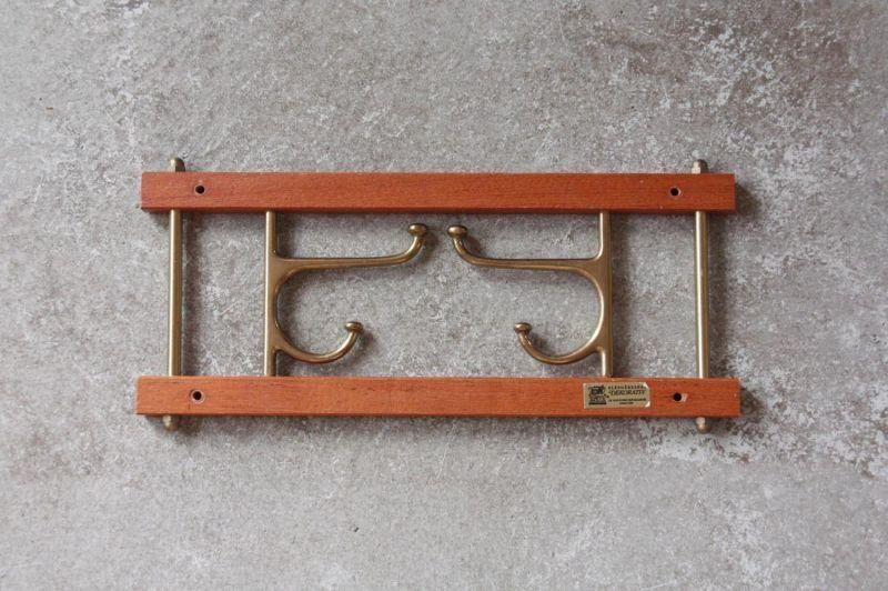 画像1: Skogslunds Metallgjuteri社製/ヴィンテージ真ちゅうウォールハンガー/フック/ 35cm/No.1 (1)