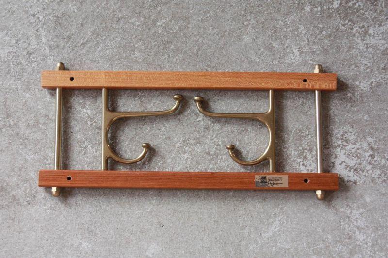 画像1: Skogslunds Metallgjuteri社製/ヴィンテージ真ちゅうウォールハンガー/フック/ 35cm/No.2 (1)