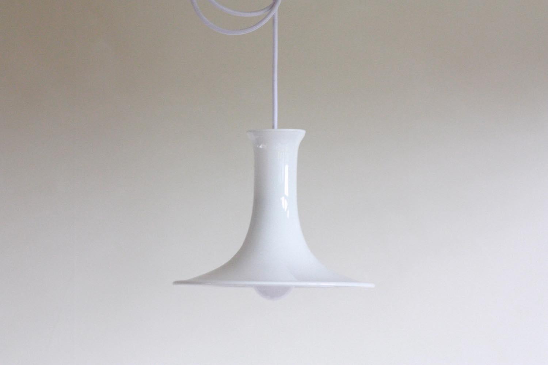 画像1: 北欧ビンテージ照明/Holmegaard/ホルムガード/ペンダントライト/Mandarin/ホワイト (1)