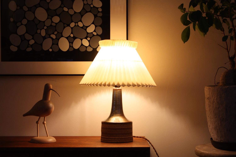 画像1: ビンテージ北欧照明/テーブルライト/デンマーク買い付け/ルクリントシェード/No.1 (1)