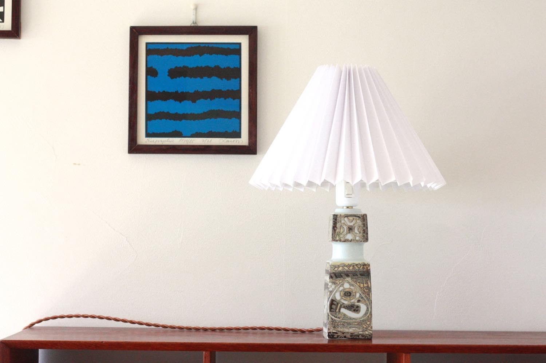 画像1: ビンテージ北欧照明/ロイヤルコペンハーゲン/Fog&Morup/ジャバラシェード/ビンテージテーブルライト (1)