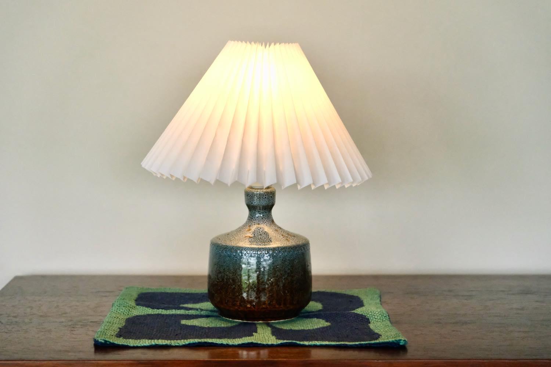 画像1: ビンテージ北欧照明/Höganäs/へガナス/テーブルライト/陶製 (1)