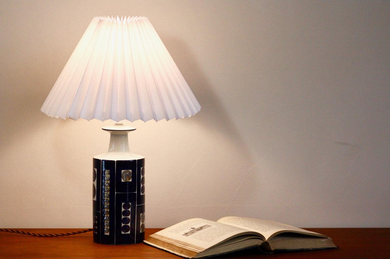 画像1: ビンテージ北欧照明/ロイヤルコペンハーゲン/alminia/Fog&Morup/ジャバラシェード/ビンテージテーブルライト (1)
