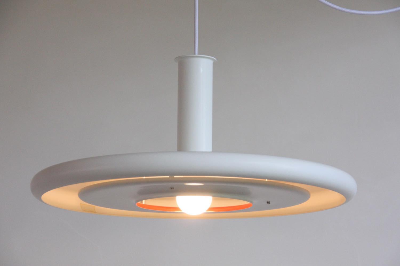 画像1: 北欧ヴィンテージ照明/デンマーク製/Fog & Morup社/Optima/オプティマ/ペンダントライト/ホワイト (1)